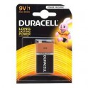Pile alkaline 9 volts / 6LR61 Duracell Plus Power