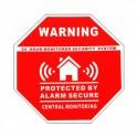 "Autocollant dissuasif de ""Protection sous alarme"""