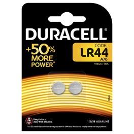 Lot de 2 piles LR44 alcaline 1,5 volts Duracell