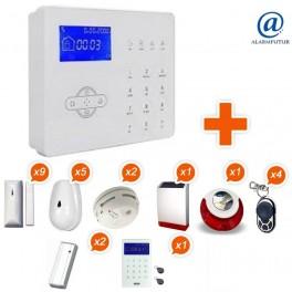 Alarme GSM sans fil ALARMFUTUR House Kit 11